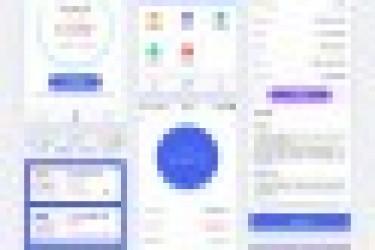 APP界面设计欣赏:惠家理财APP全新UI设计
