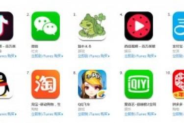 App store排行榜前10的免费中文APP是哪些