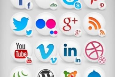社交网络(SNS)一套图标分享和免费下载