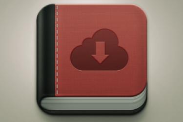 图书应用程序APP界面图标设计-免费psd模板