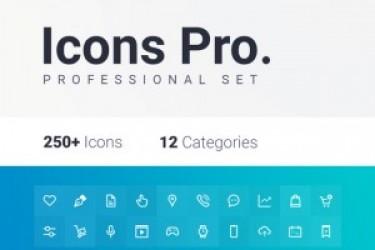 250+ Icons图标多种格式免费下载
