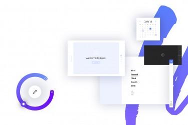 响应式网页线框图UI/UX设计套件(XD)