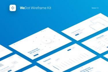 WeDot响应式网页版线框图套件