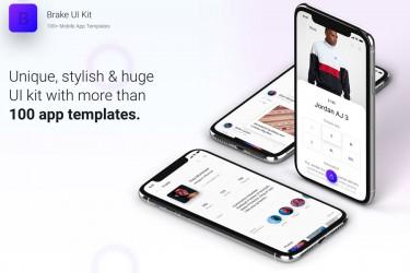 独特时尚的多用途app界面设计模板