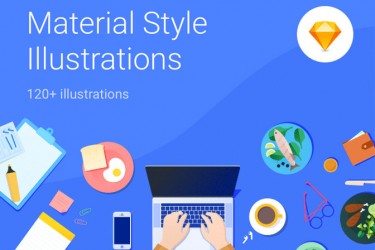 谷歌Material Design风格的插图设计素材