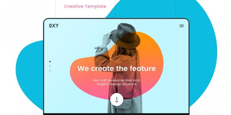 时尚创意的网站ui素材