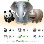 7套非常可爱的动物图标icons psd免费下载