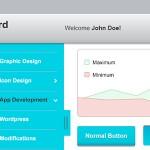 一套后台管理模板UI界面设计PSD免费下载