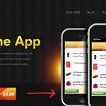 免费的iPhone应用程序网站HTMl模板含PSD源文件