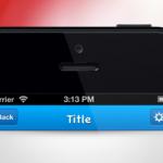 APP导航栏界面设计,iOS应用程序设计PSD模板