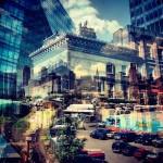 SKYUI PS设计赏析-双重曝光:纽约与伦敦的混合体