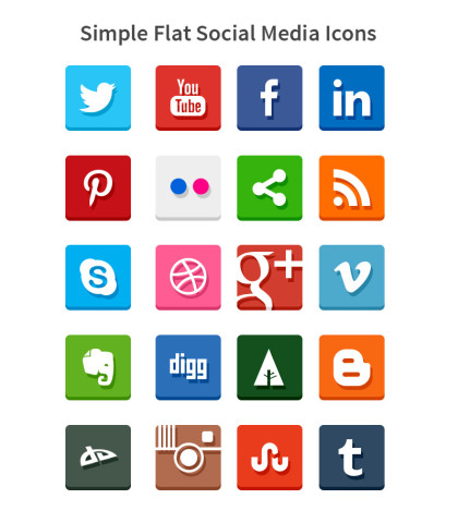 Simple-flat-social-icons