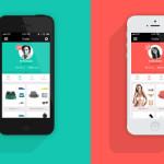 一组时尚商店FlatUI iOSApp界面设计欣赏