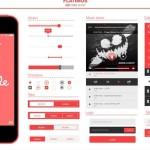 免费的Flatimus iOS的用户界面UI工具包(PSD)
