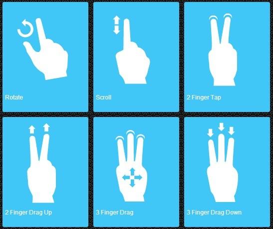 移动触摸手势图标