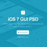 iOS7 GUI PSD(iPhone和iPad)全套UI设计素材下载