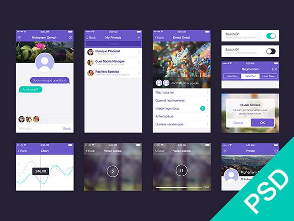app-ui-kit-psd