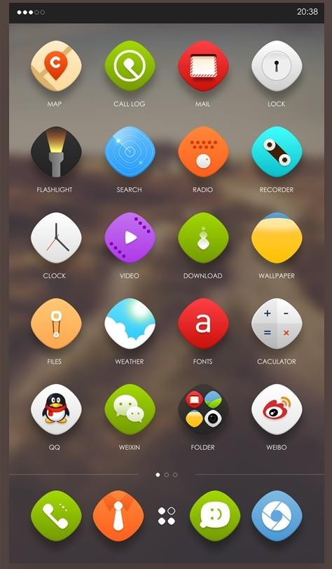 手机ui系统主题的设计