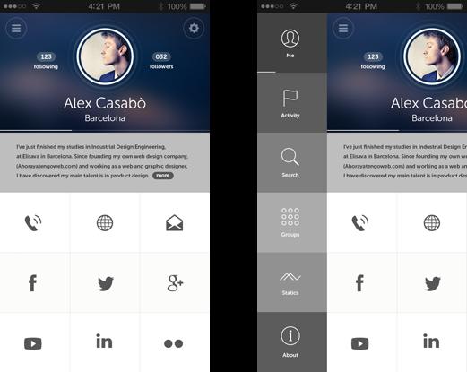 几款通讯录app界面设计欣赏和通讯录app图标素材