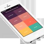 分享移动简约型APP设计流程,APP配色,APP布局等