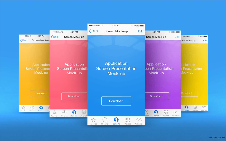 多彩的扁平化APP界面设计