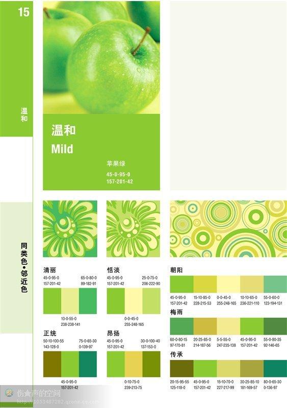 苹果绿APP配色方案