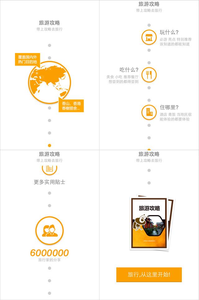 马蜂窝旅游攻略APP引导页设计