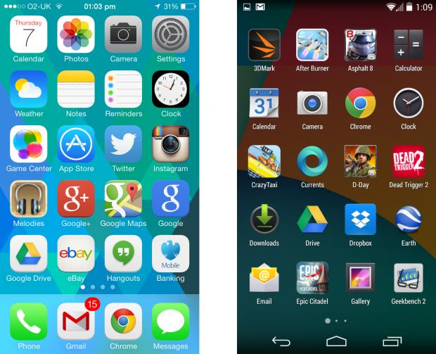iOS7和Android4.4