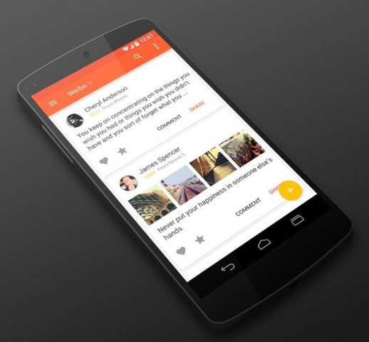 Micro-blog Material Design L style APP works