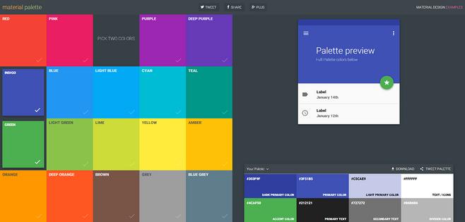 Material Design配色网站