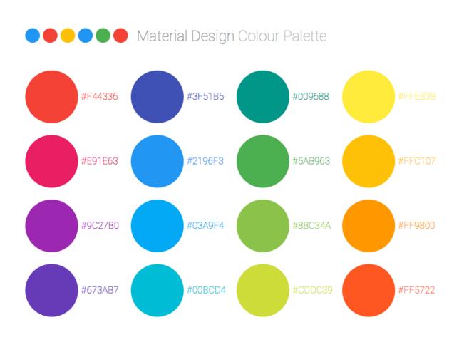 Material Design颜色图谱