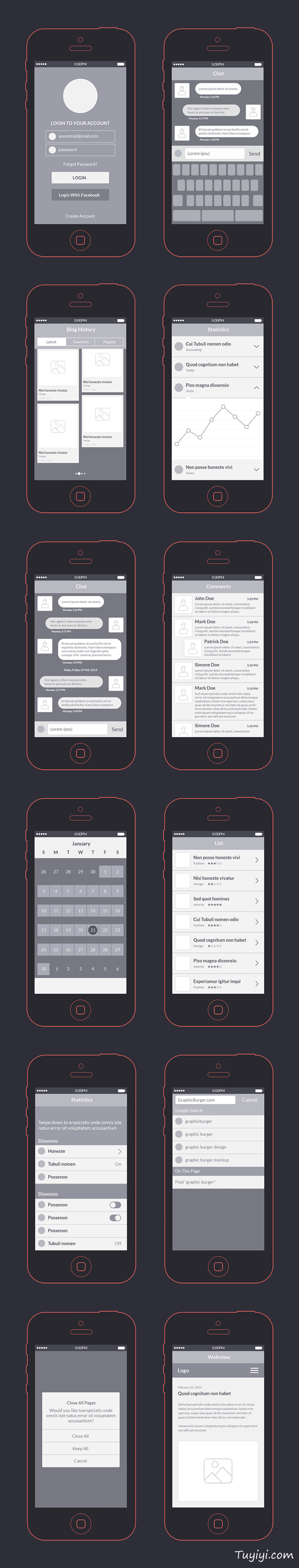 app线框图