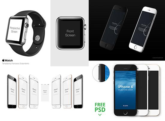 iPhone界面设计psd模板