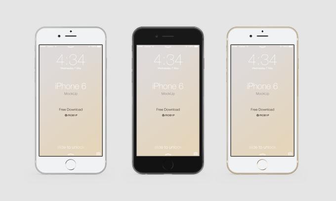 iphone6 界面设计psd模板