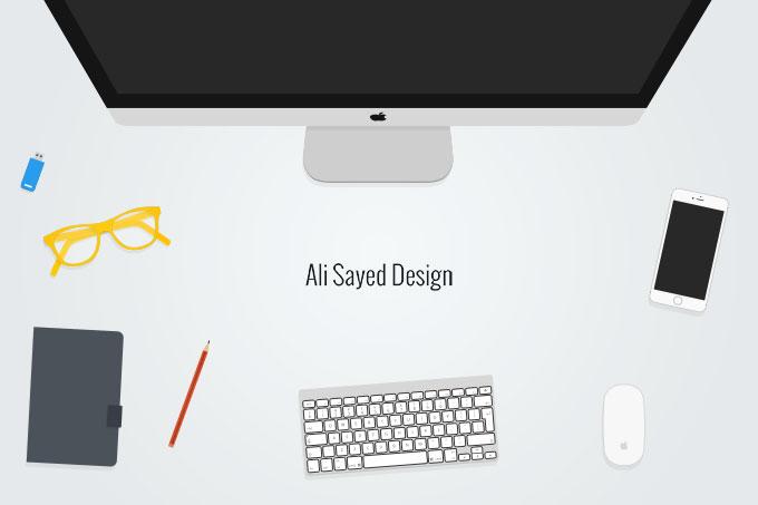 桌面苹果电脑素材2
