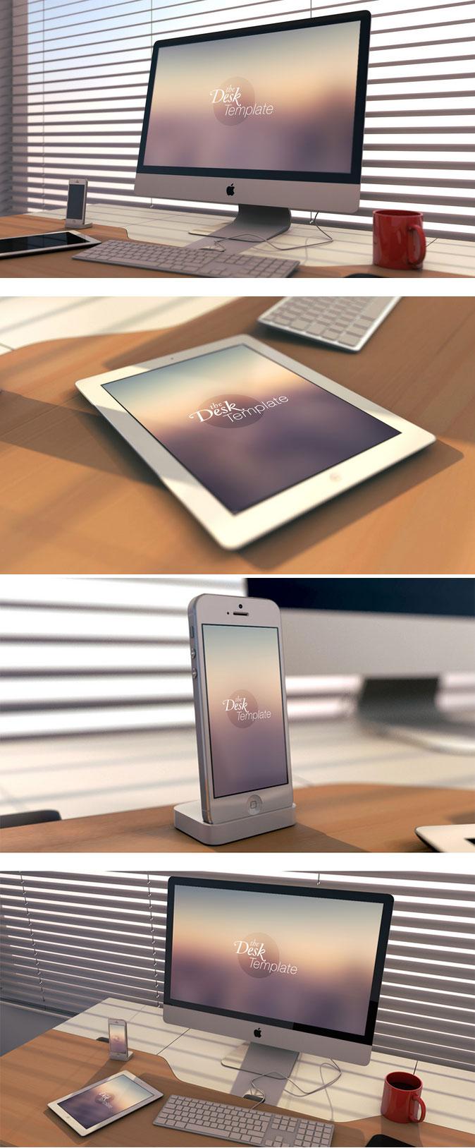 iPhone,iPad和iMac优质的模型模板PSD素材