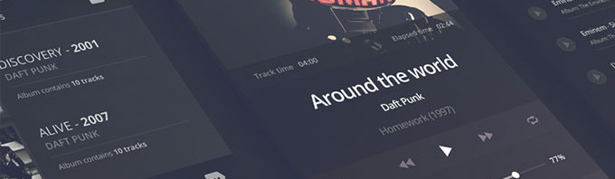 iPhone-6音乐播放器PSD