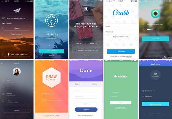 app登录界面设计欣赏