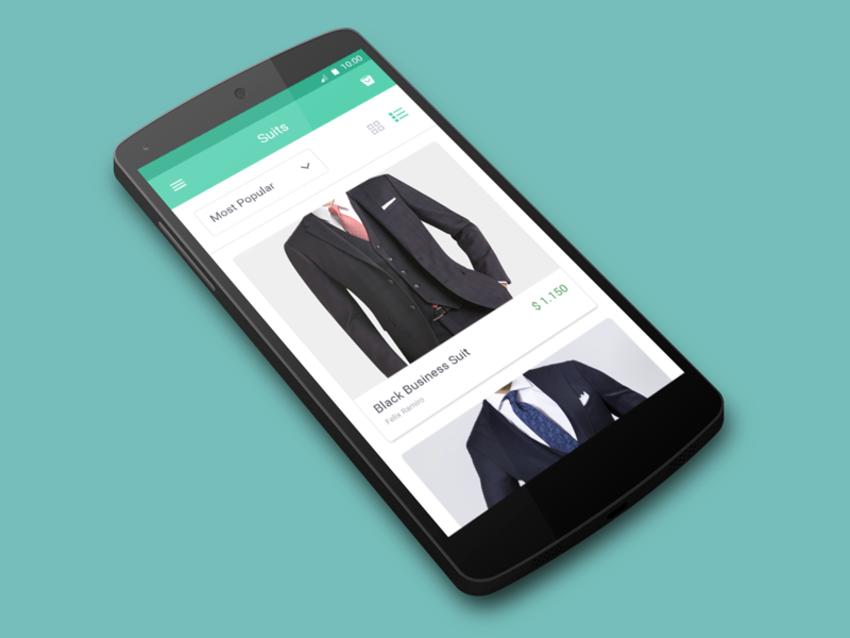 电商app设计模板素材