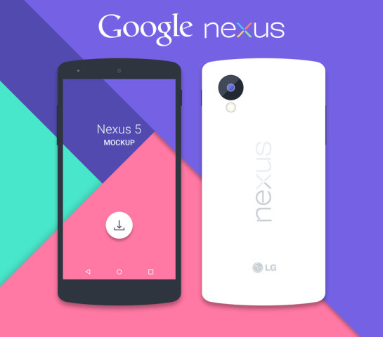 Google Nexus 5 Mockup