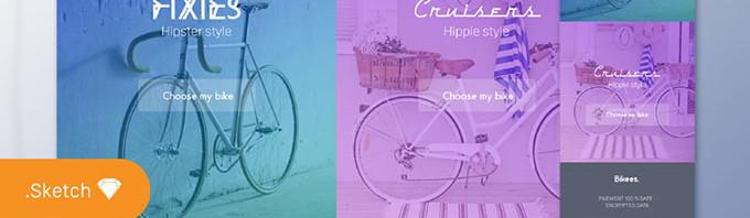 自行车设计素材