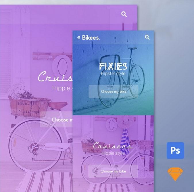 自行车设计素材2