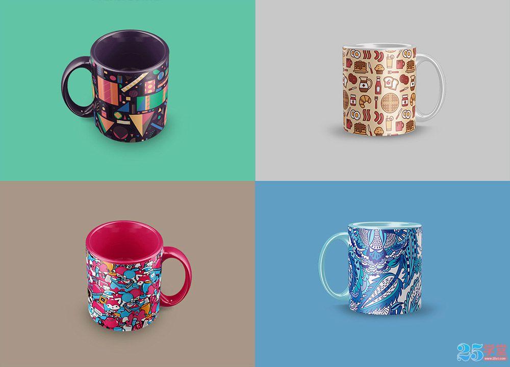 咖啡杯自定义PSD素材