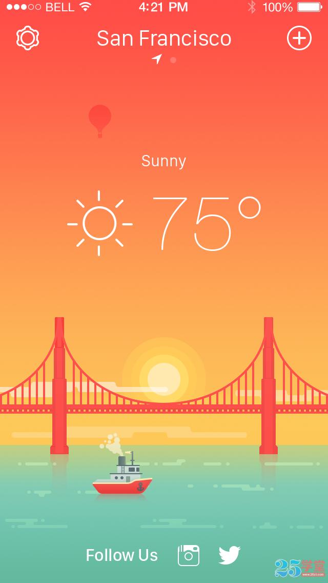 天气类APP设计