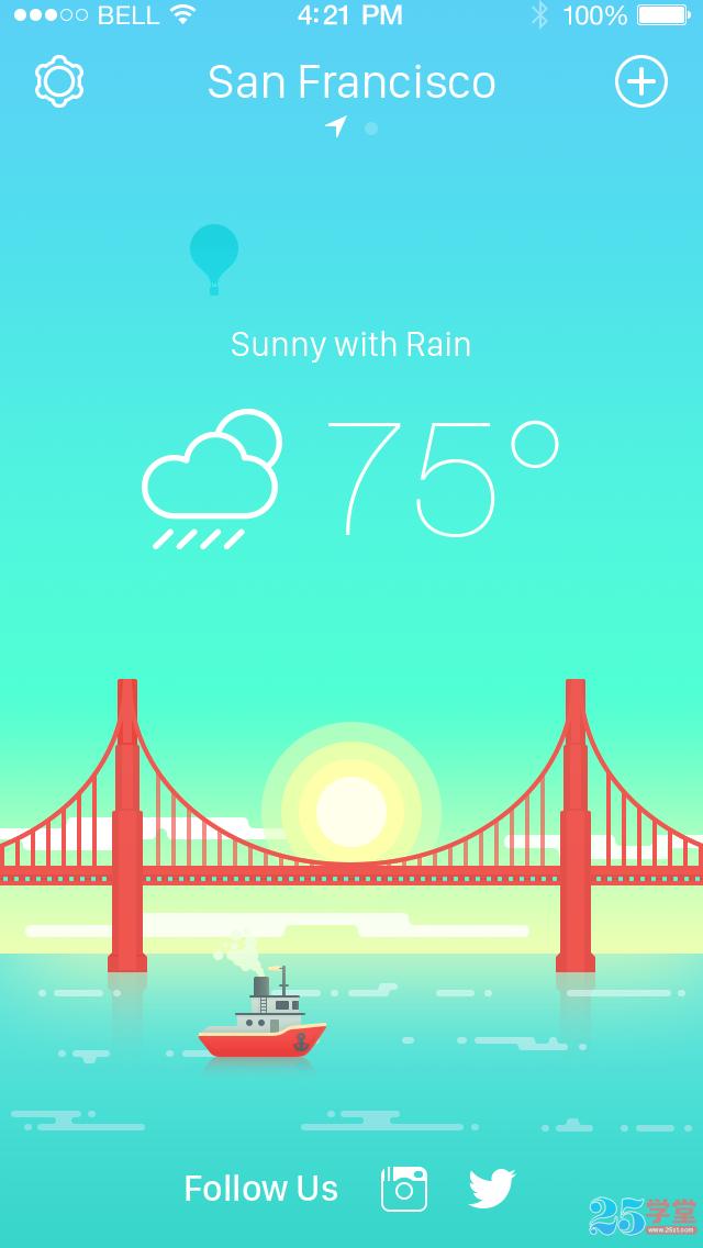 天气类APP设计2
