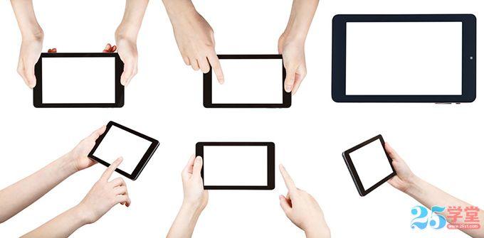手拿智能手机的各种场景素材5