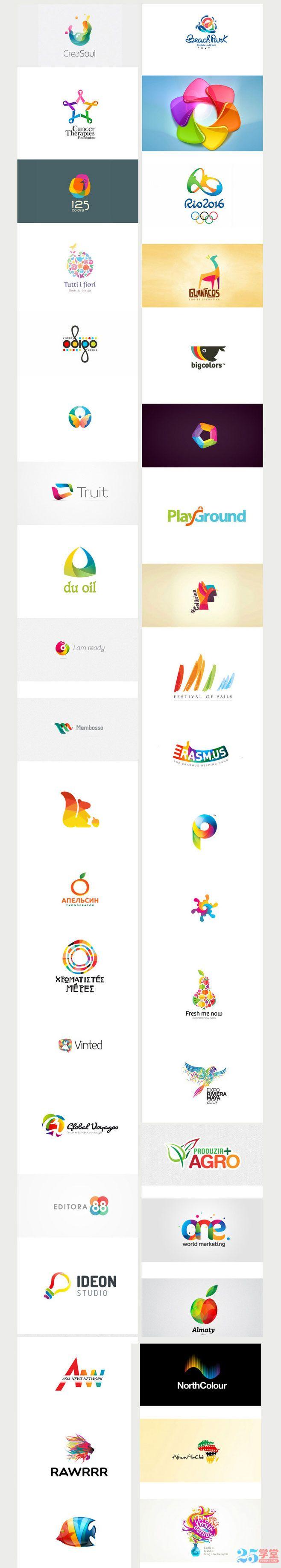 色彩logo设计灵感