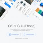 iOS9 GUI iPhone全套UI设计模板PSD+Sketch