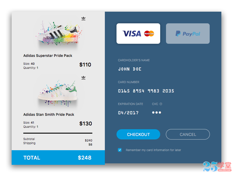 Electricity supplier class single payment interface UI design 2