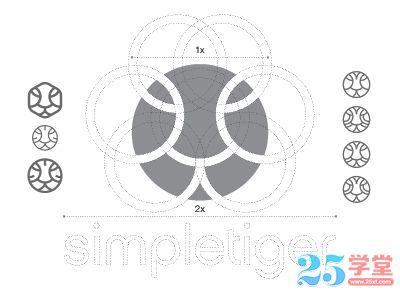 logo设计辅助线2